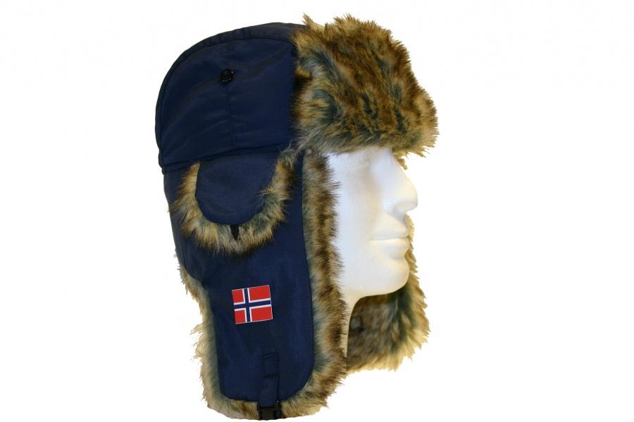 3645c83d Heia Norge Ørelapp lue Blå med norsk flagg - Nettbutikk1.net